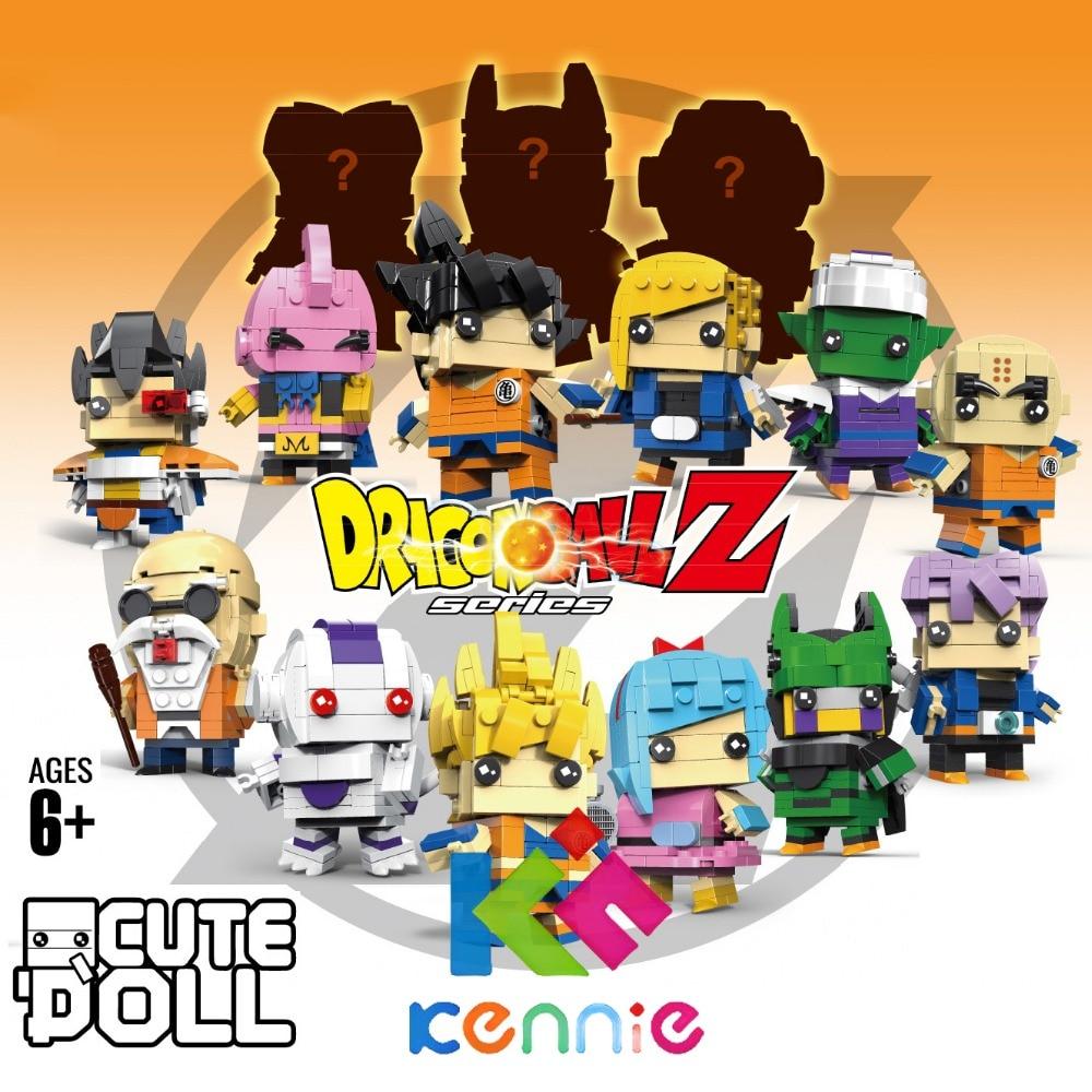 Dragon Ball DIY Building Blocks Goku Trunks Bulma Cell Piccolo Majin Buu Krilin Action Figure Brickheadz  Compatible with kennie