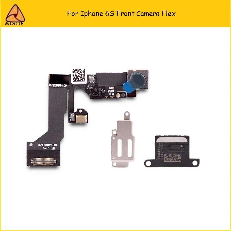 2 unids/lote prueba altavoz del auricular + soporte de Metal + Sensor de proximidad cable Flex para cámara pequeña para iPhone 6S cámara frontal 4,7 Asamblea