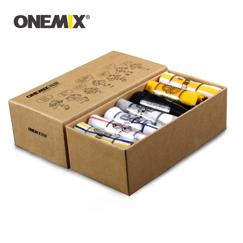 ONEMIX Men's Week Sports Socks Running Socks Pure Cotton Socks 7 Pairs/lot 7 Days Wearing for Outdoor Sport Socks Ship On Random