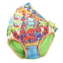 Caleçons Triangle Spiderman pour enfants   5 pièces, culottes en soie lait de dessin animé, slips pour enfants 2-7 ans TP01