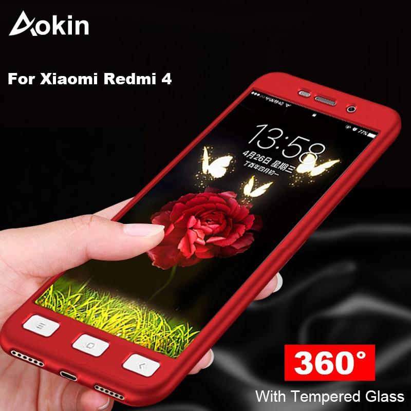 Aokin, funda para Xiaomi Redmi 4 Pro 360 funda de teléfono para Xiaomi Redmi 4, protección completa, funda trasera dura mate para Xiomi Redmi 4 Pro