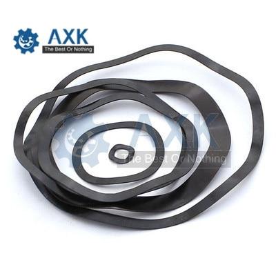 100 piezas DIN137B M3 M4 M5 M6 M8 M10 M12 M16 de acero negro 65MN onda Junta anillo tres onda arandelas arandela de resorte