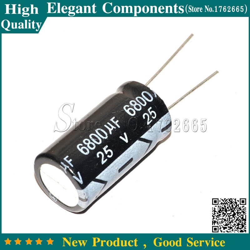 20 piezas 6800 UF 25 V condensador electrolítico 25 V 6800 UF 25 V/6800 UF tamaño 16*30mm condensador electrolítico de aluminio