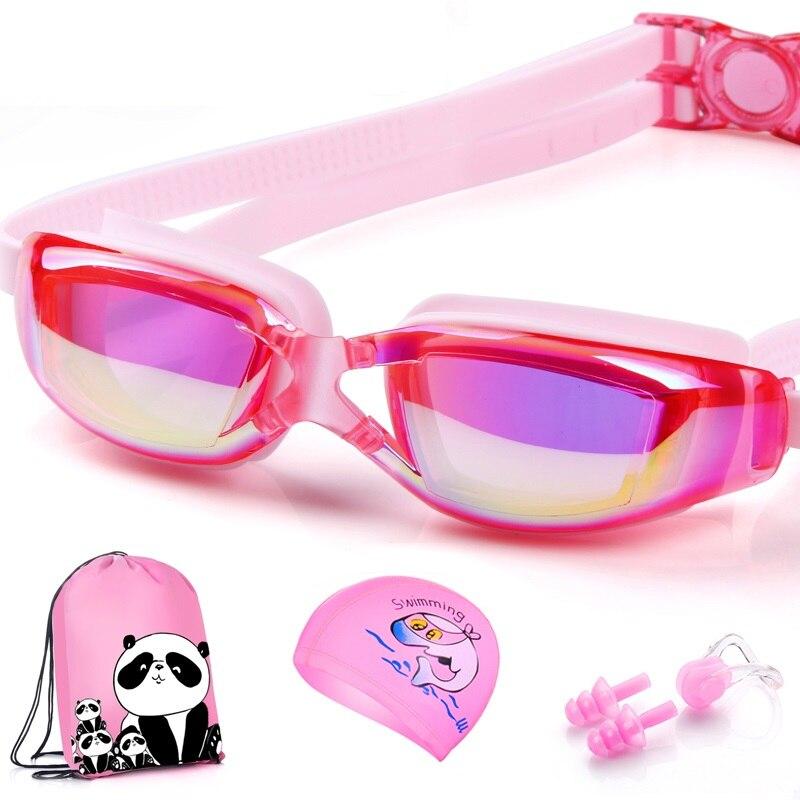 Waterproof PU baby swimming cap Children Swimming hat Children Swim cap kids swimming glasses