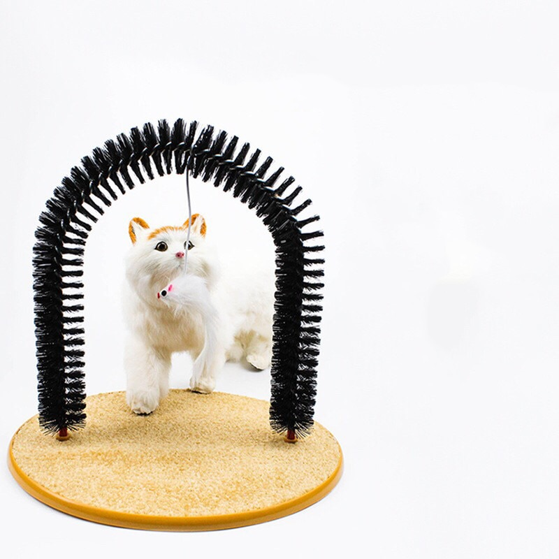 MTL Pet Cat Scratcher Scratching Door Self Groomer Brush Massages