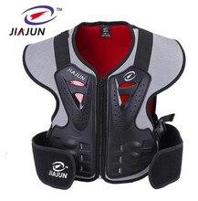 JIAJUN Sports de plein air enfants enfants moto équitation équipement de Protection sécurité Ski croisé Protection poitrine soins dos