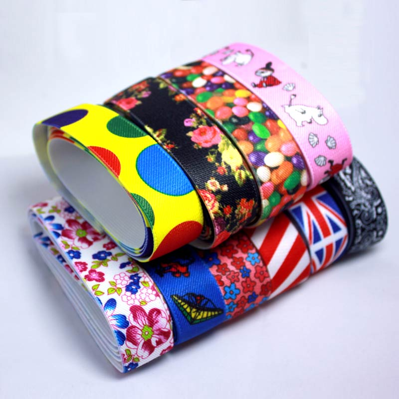 2.5 cm de alta qualidade e durável calças saia cinto decoração do carro impressão a cores banda de borracha elástico
