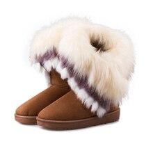 Femme chaud Tenis Bota classique femmes chaussures bout rond bottes de neige Zapatos Mujer hiver bottes de neige nouvelles femmes chaussures Corium
