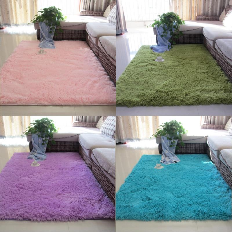 Cute rectangular plush floor rug Nordic white living room carpet coffee table cushion room bedroom floor mat bedside blanket