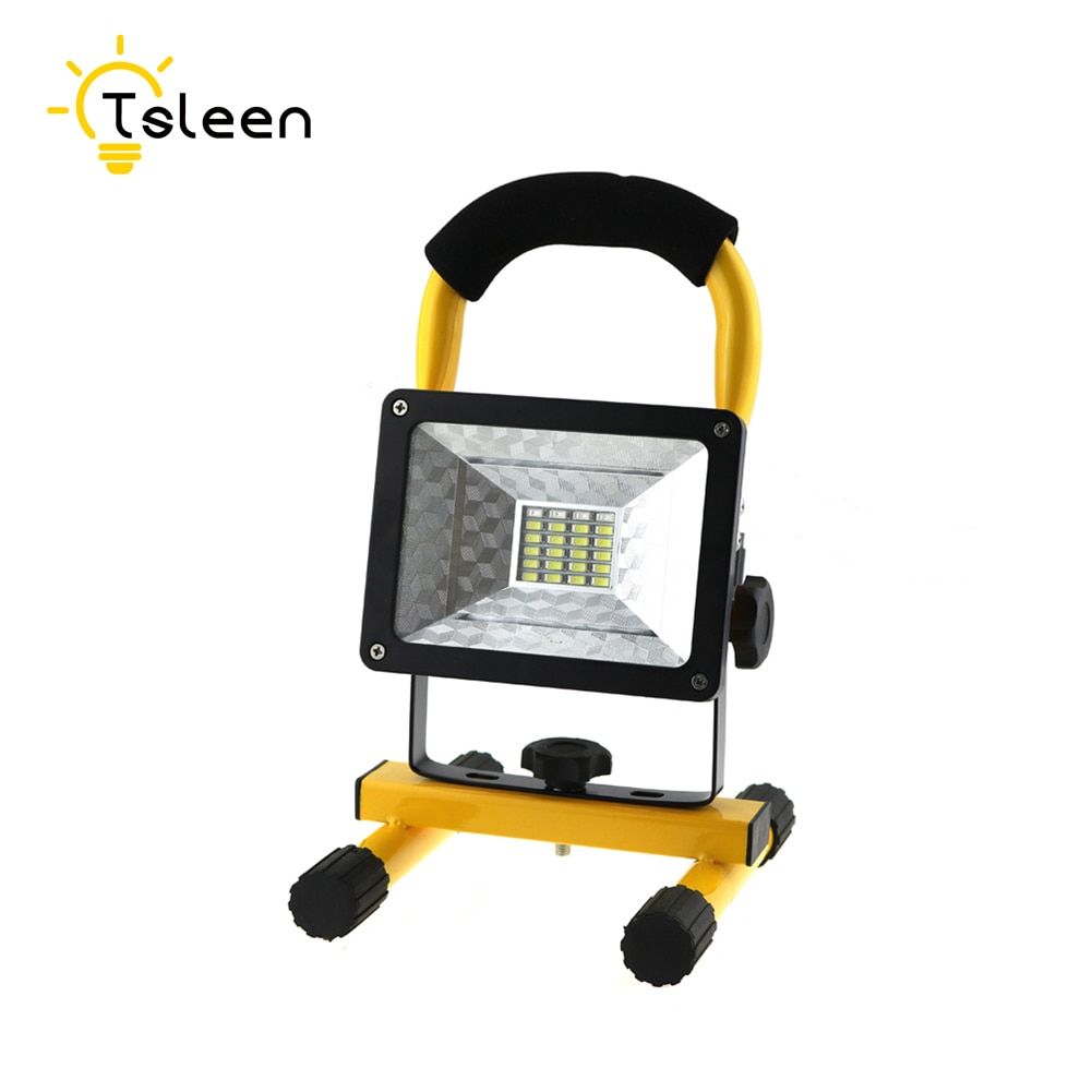 TSLEEN LED Luz de inundación 18650 batería 24 focos LED IP65 impermeable 100-240V LED proyector LED al aire libre iluminación lámpara de jardín