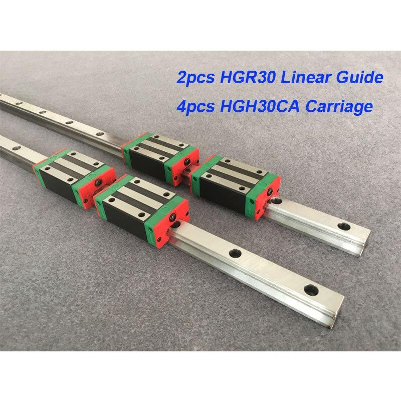 شحن مجاني 2 قطعة Hgr30 200 300 400 500 600 700 800 900 1000 1100 مللي متر دليل خطي السكك الحديدية + 4 قطعة Hgh30Ca أو Hgw30Ca النقل Cnc Pa