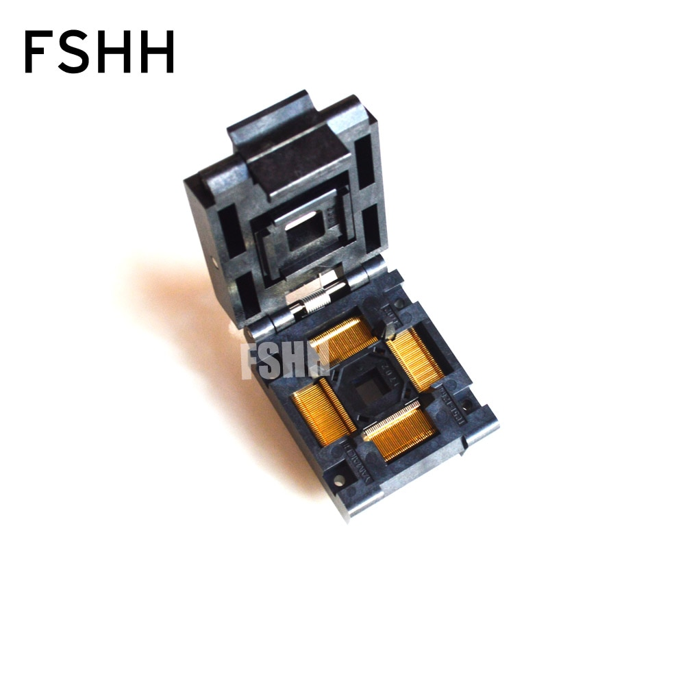Enchufe de prueba IC51-1284-1702 TQFP128 QFP128 paso de zócalo IC = 0,4mm