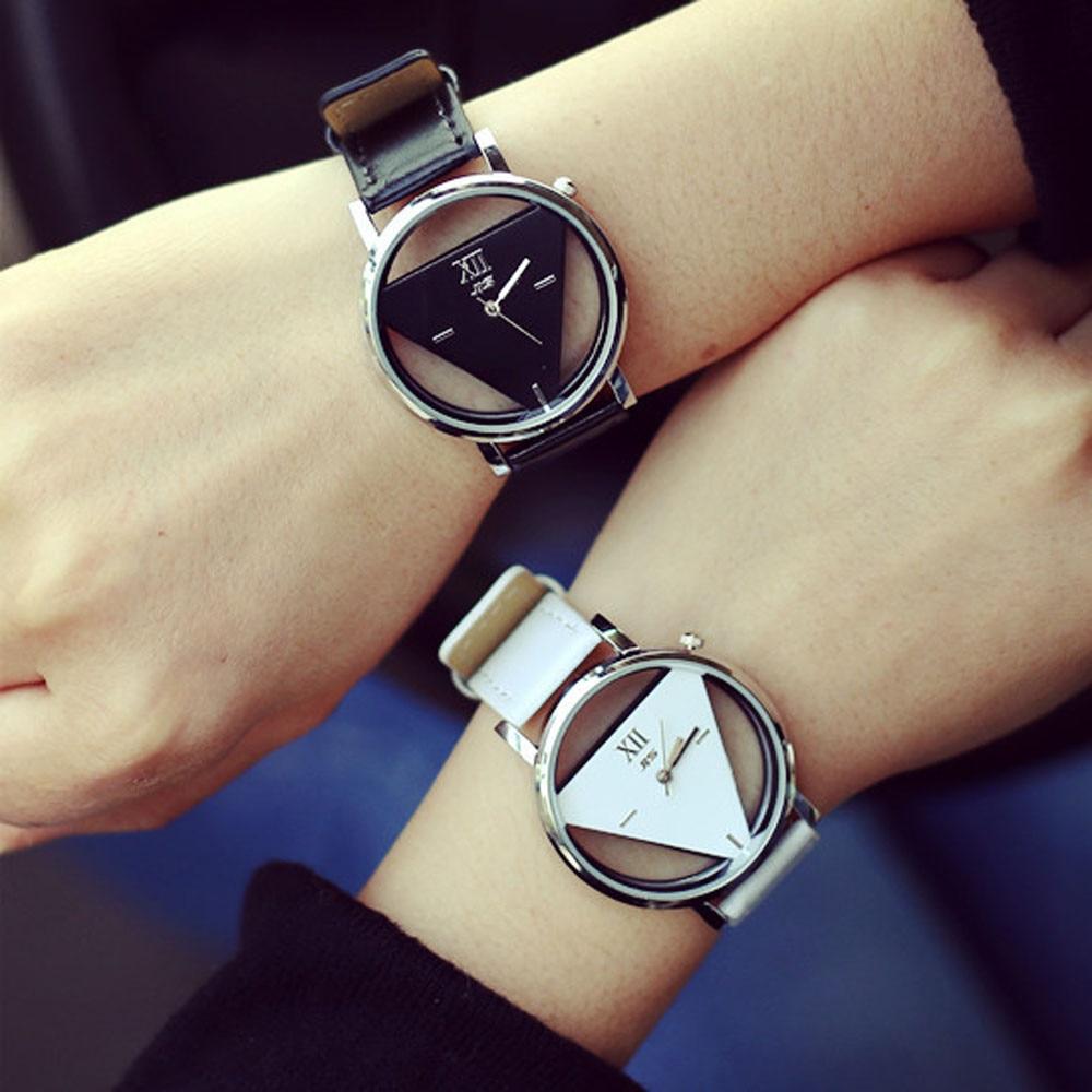 9s уникальные открытые модные часы с треугольным циферблатом, наручные часы для женщин, браслет, наручные часы для женщин, часы с ремешком, будильник, led @ 9