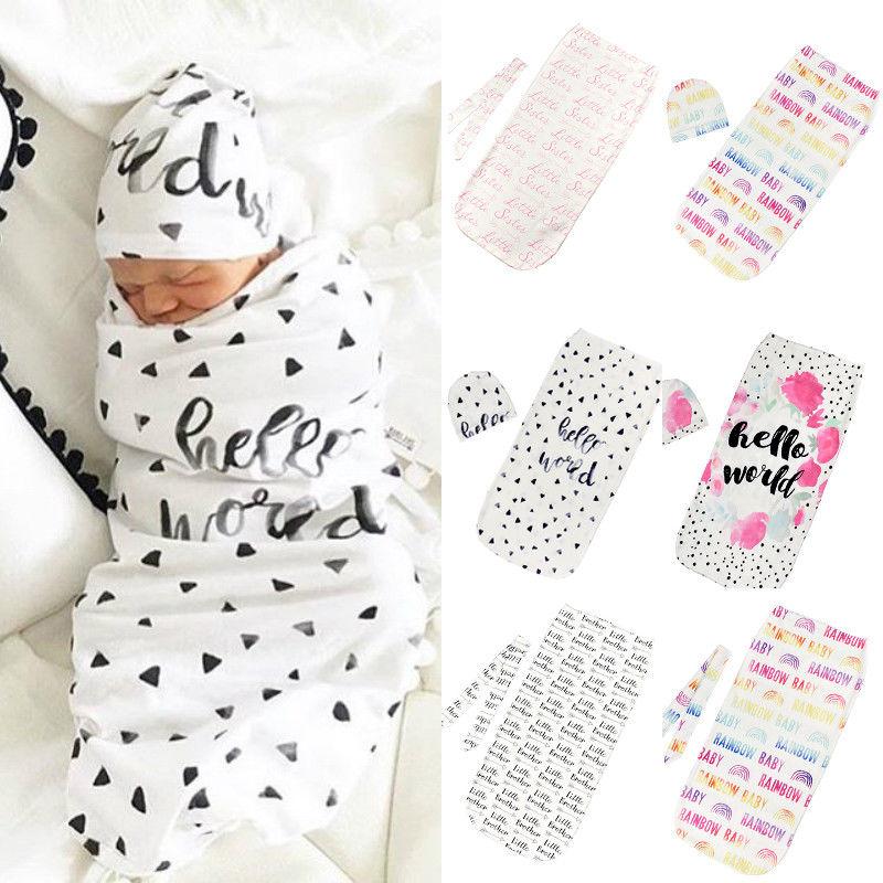 New Baby Infant Summer Swaddle Me Blanket Wraps Sleeping Bag  cotton