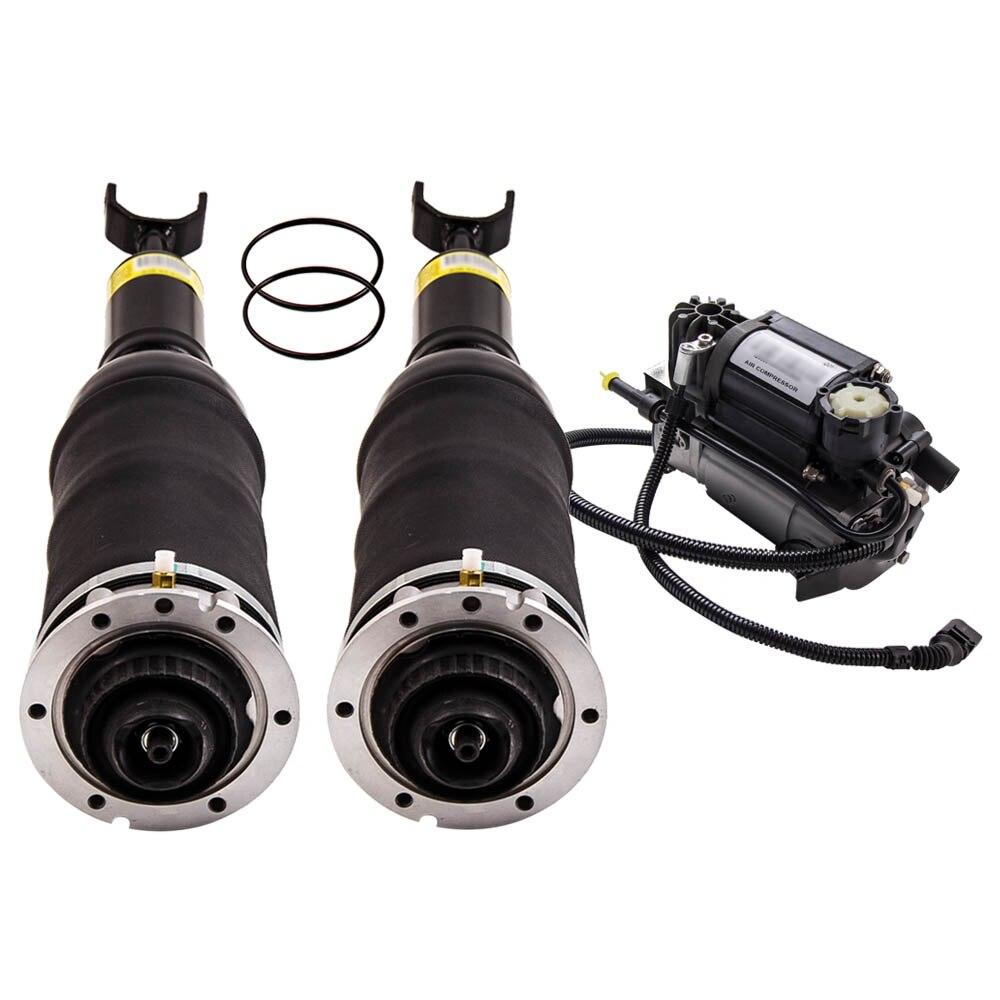 Suspensión neumática delantera de L & R + bomba de aire para Audi A6 C5 Allroad Quattro 99-06 4Z7616051D 4Z7413031A 4Z7616051 juego de amortiguador
