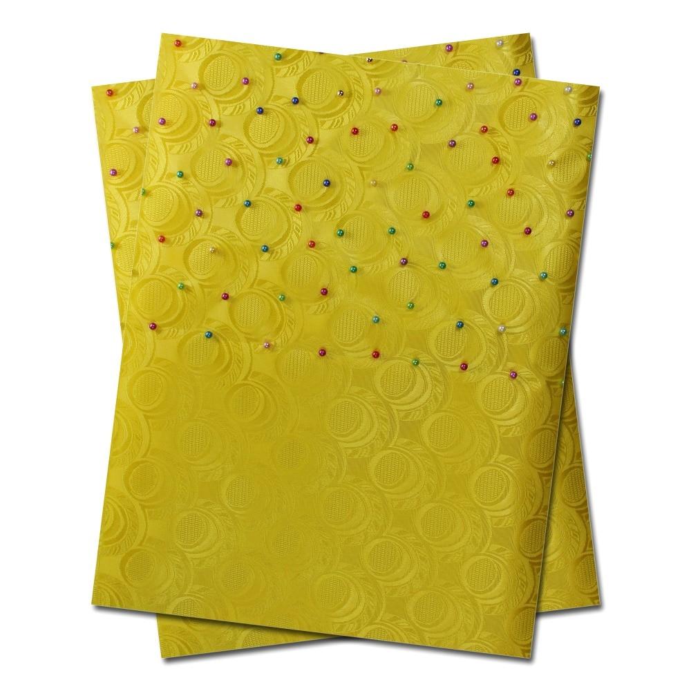 Бесплатная доставка африканская головная повязка с бусинами, головное снаряжение, Sego Gele & Ipele, головная повязка и обертка, 2 шт./компл., B368 желтый