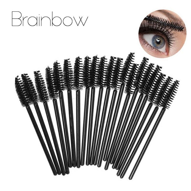 Brainbow 30pcs/Pack  Disposable Eyelash Brush Eye Lashes Curler Comb Eyebrow Brushes Long Rod Can Be Bent Mascara Brush Make Up