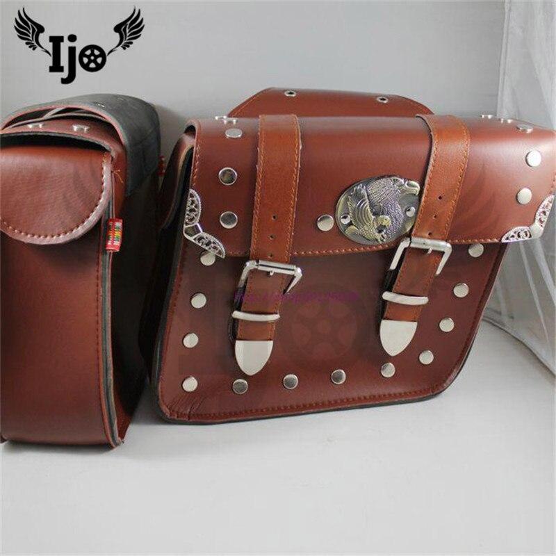 motas malas alforjas para moto saddlebag for Vespa benelli harley softail sportster motorcycle accessories backpack saddle bag