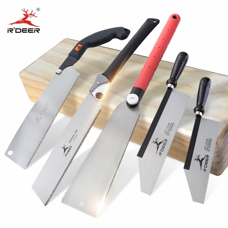 Hand Saw SK5 3-edge Japanese Saw 65# Manganese Steel Folding Wood Saw For Tenon Cutting Garden Pruni