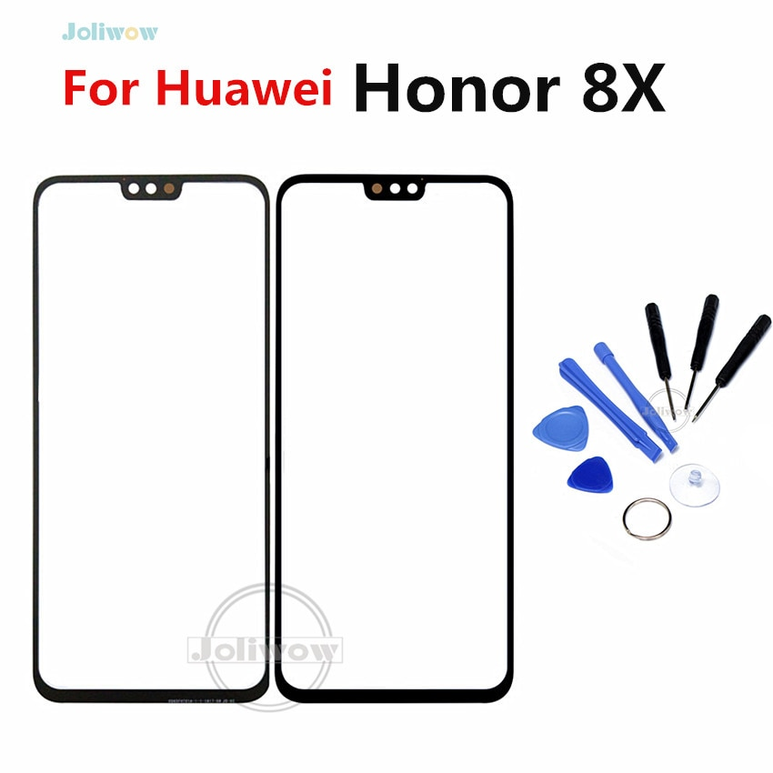 "Para huawei honor 8x touch screen painel de vidro sensor touchpad painel frontal peças para honra 8x 8x touchscreen 6.5"""