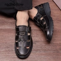 men sandals mens slippers real leather shoes summer beach sandals casual soft men shoes flip flops zapatos breathable