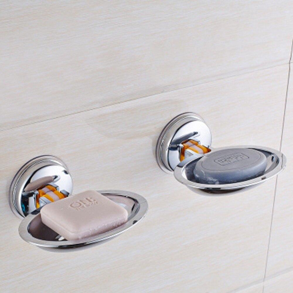 Plato de jabón para ducha de baño, ventosa fuerte para el hogar, fregadero de cocina, jabonera, soporte de pared, bandeja de placa de almacenamiento, funda F4