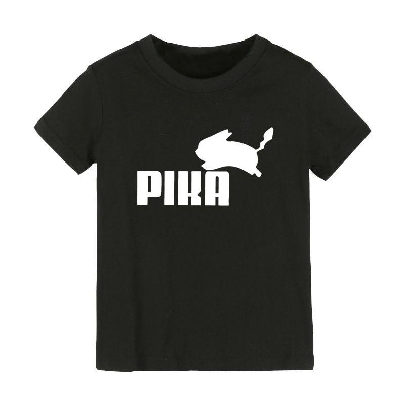 Pokemon Go Pikachu Print Kids tshirt Boy Girl t shirt For Children Toddler Clothes Funny Tumblr Top Tees Drop Ship CZ-56