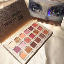 Beauty Glazed 18 Color Glitter Eyeshadow Palette Makeup Pigment Smoky Eye shadow Palette Nude Shining Waterproof Cosmetics