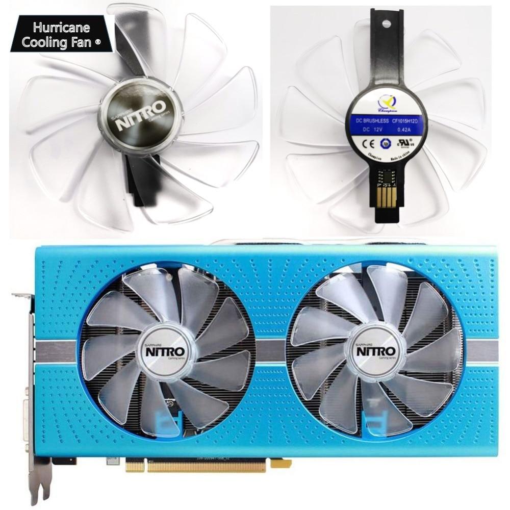 95mm CF1015H12D Grafikkarte Blau Led Kühler Fan für Sapphire NITRO RX480 RX470 RX580 RX570 RX590 RX 470 480 570 580 590 4G 8G