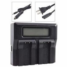 DSTE LCD74A double chargeur de batterie avec Port USB pour CASIO NP-50 batterie Exilim EX-V7 V7SR V8 V8SR caméra