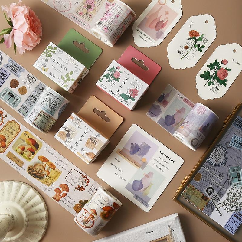 4cm * 3m Gärten von Zeit washi klebeband DIY dekoration scrapbooking planer masking tape klebeband label aufkleber schreibwaren
