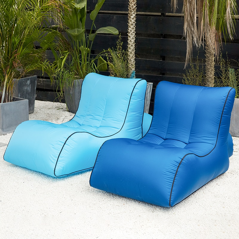 Inflatable bean bag sofa  outdoor beach chairs  beanbag lounger air lazy chair round island design original bean bag fur lounger elegant and high warm soft beanbag sofa cushion