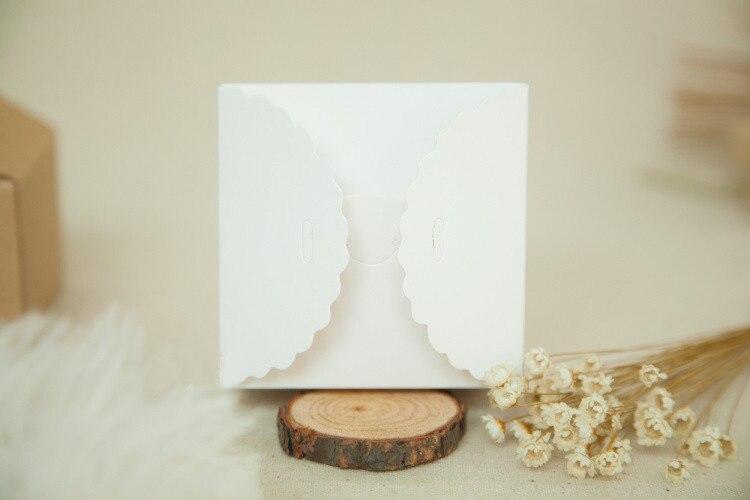 20 шт. 12*12*6 см белая/коричневая коробка из крафт бумаги для