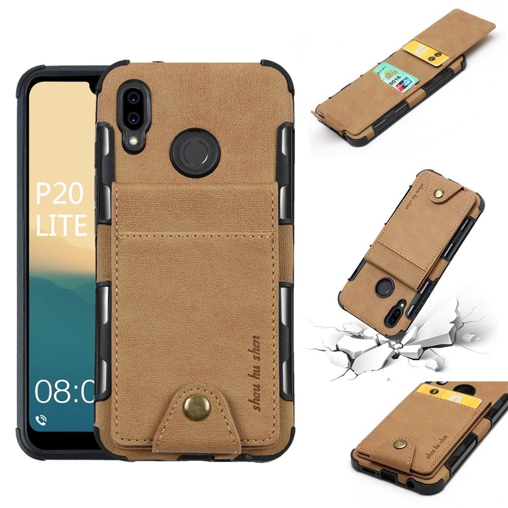 Funda de lujo para Huawei p20 pro p30 lite nova 3 y9 2019, funda con Tapa de tela para Huawei honor 10 Mate10 lite pro, funda para teléfono
