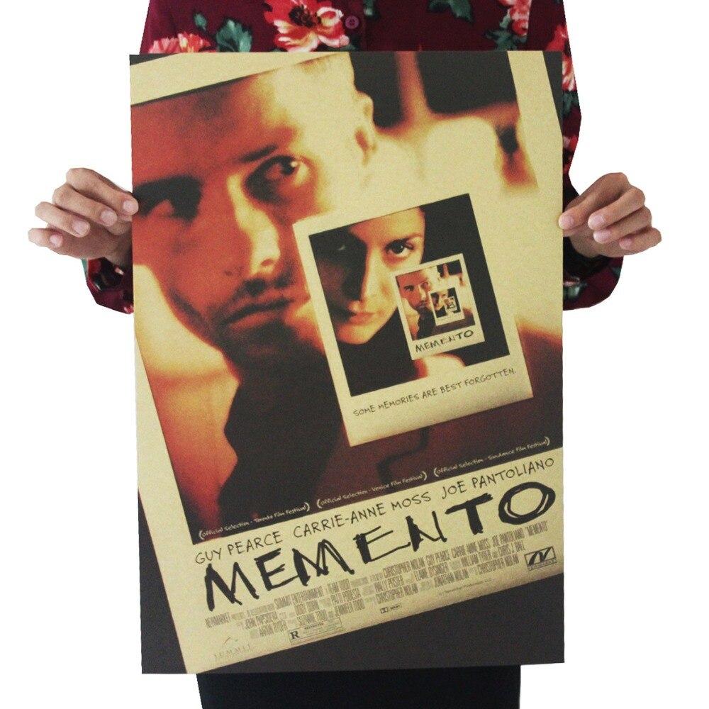 Memento /Christopher Nolan/classic movie film poster/kraft paper/bar poster/Retro Poster/decorative painting 51x35.5cm