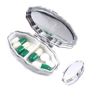 1PCS New PillBox Folding Vitamin Medicine Drug Container Makeup Storage StorageContainer Pill Organizer