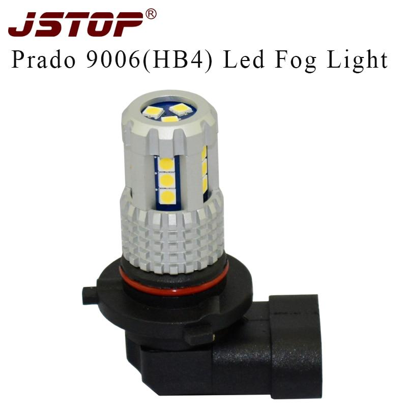 JSTOP, nuevo producto, luces antiniebla DE COCHE Prado led, faros antiniebla de coche, bombillas automáticas 12-24 V, luces externas 3030smd 9006 HB4 6000 K, lámpara antiniebla led canbus