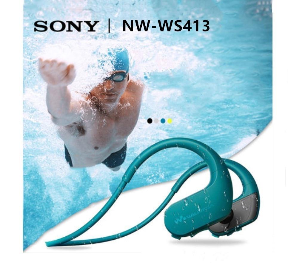 سوني NW-WS413 السباحة مقاوم للماء تشغيل mp3 مشغل موسيقى سماعة المتكاملة اكسسوارات مقاوم للماء سوني WS413 وكمان