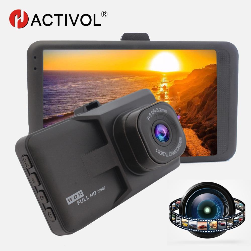Видеорегистратор HACTIVOL, Автомобильный регистратор Full HD 1080p, 3,0 дюйма, G-датчик, циклическая запись