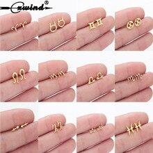 Cxwind Constellation Stud Earrings for Women Zodiac Earring Gift 12 Zodiac Sign Constellation Charm