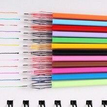 12pcs/Set Diamond Head Refills Pencil Supplies Candy Color Roller Ball Gel Pen Refill Student Writing Painting Supplies
