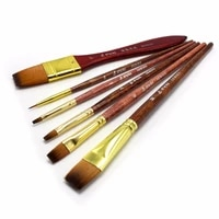 eval 6pcs nylon brush oil painting brushes watercolor paint brush set high quality artist brush for artist drawing tool supplies
