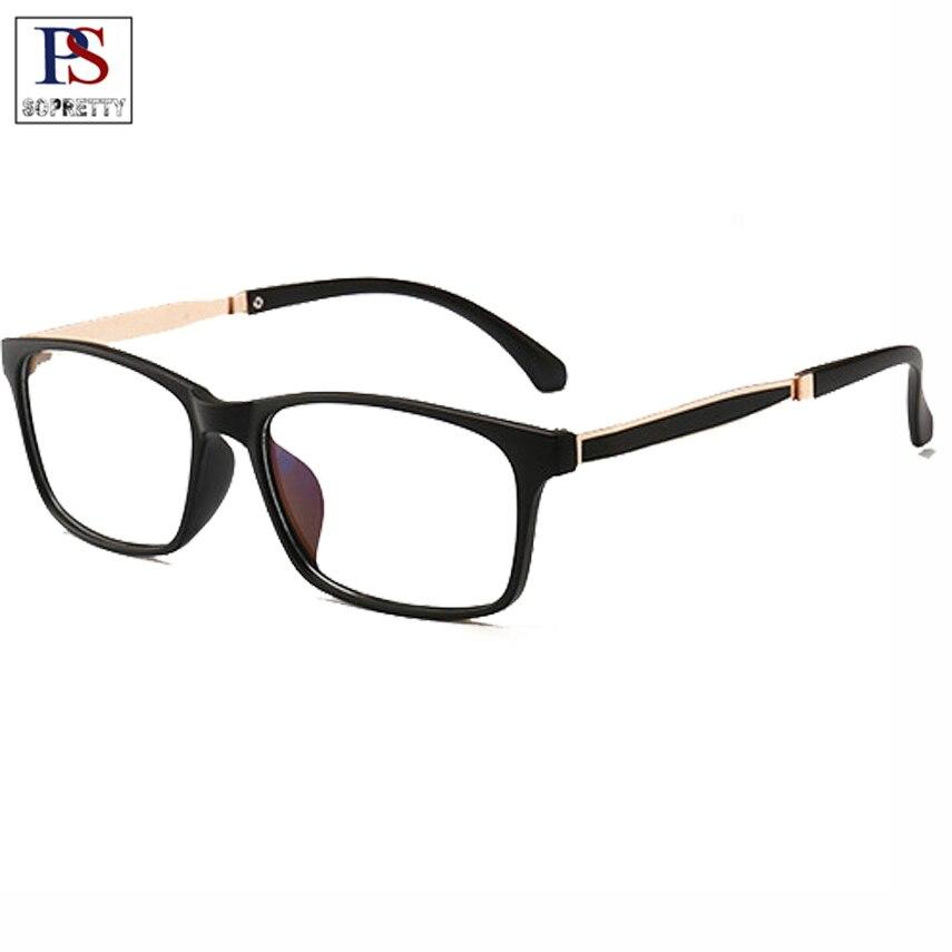Lunettes de lecture carrées pour hommes, lunettes de presbytie Ultra légères, lunettes bleues à monture rouge noire