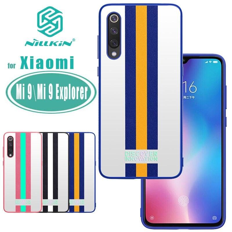 Funda mi 9 Explorer para Xiaomi 9, funda NILLKIN a rayas para mi 9 Explorer, funda trasera, Coque fundas Nilkin mi 9, funda deportiva de marea