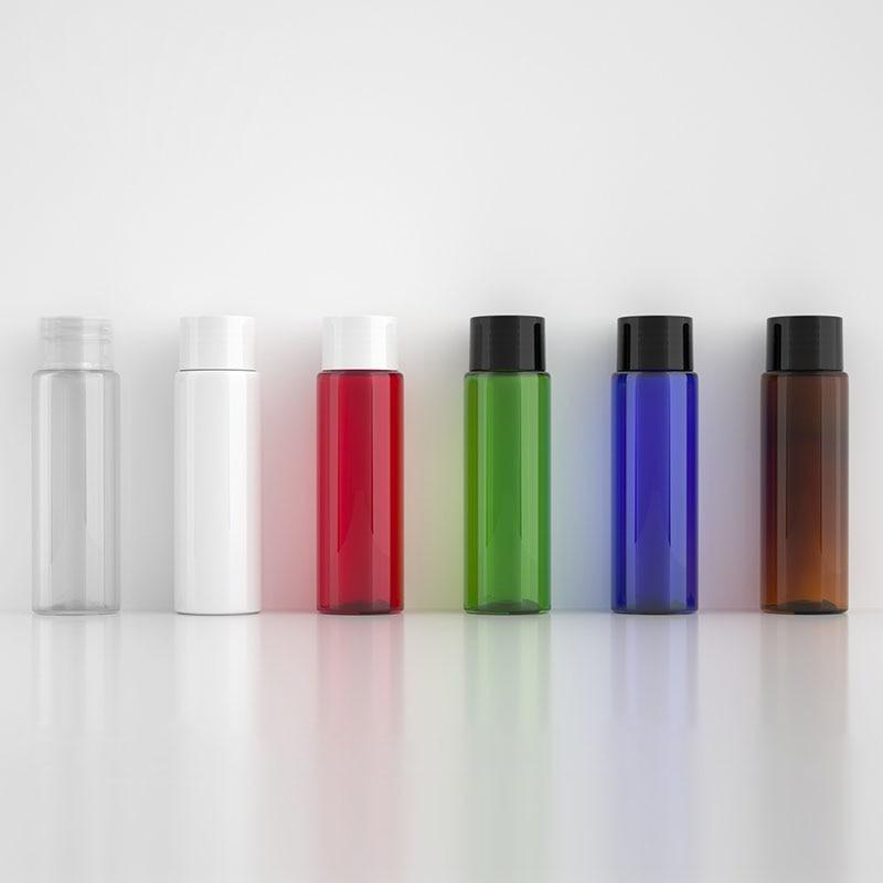 48pcs 30ml Clear/White/Red/Green/Blue/Brown Storage Perfume Oil Screw Cap liquid Cream Container Skin Care Empty Plastic Bottles
