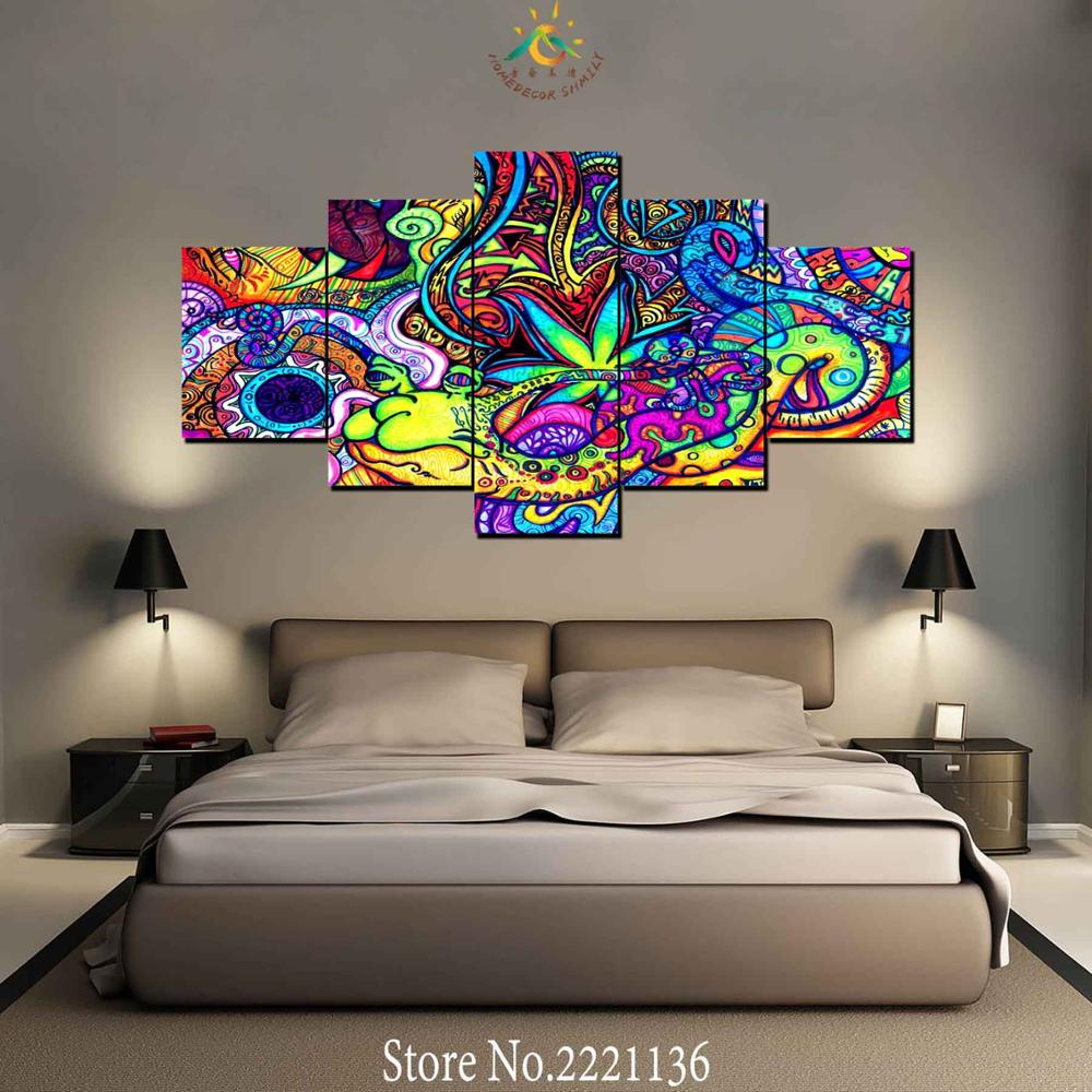 3-4-5 piezas Galería de Imágenes TRIPPY pared moderna arte lienzo impreso pintura HD impresiones Modular cartel pared imágenes para decoración del hogar