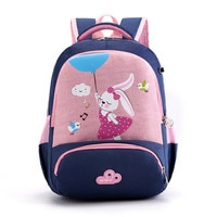 2020 Children High Quality Cartoon Rabbit School Bags for Kids Animal orthopaedics schoolbags Baby Girls School Backpack mochila