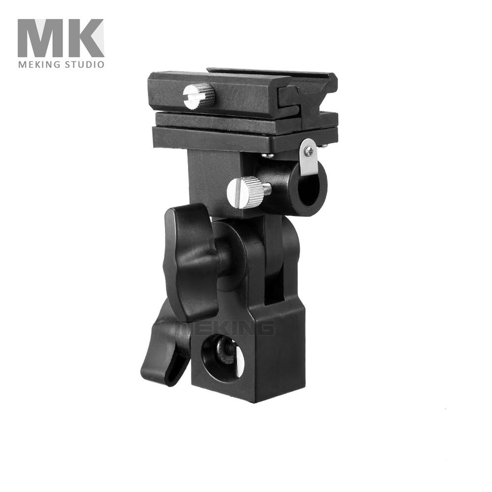 Meking zapata para Flash Speedlite soporte de montaje de paraguas giratorio para soporte de luz soporte de Flash B para disparador de Flash de zapata caliente