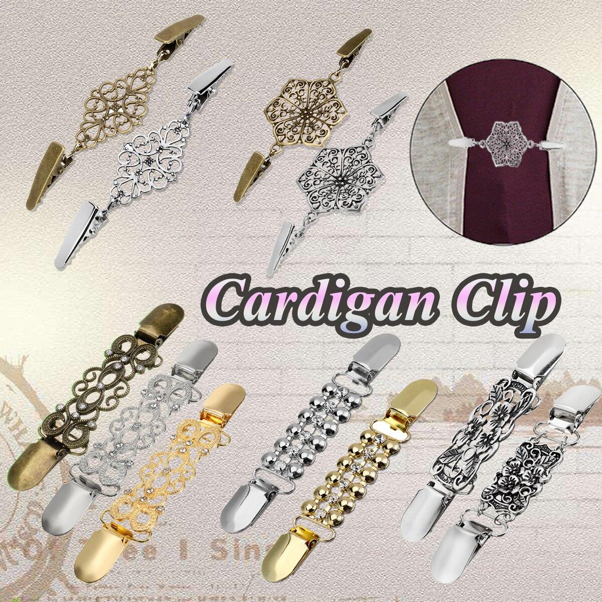 Retro Metall Ente Clip Frauen Pullover Bluse Schal Hemd Kragen Strickjacke Clips Schnalle Für Kleidung Decor Gold/Silber/ bronze