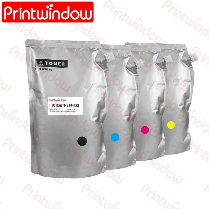Toner para Konica kg de pó de Toner Minolta Bizhub C250 C252 C353 1pc Tn314 Tn210 0.5